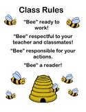 """Bee"" Classroom rules"