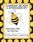 Bee Theme Classroom Helpers & Attendance Kit