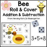 Bee Themed Roll & Cover Addition & Subtraction Games!