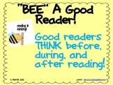 Bee a Good Reader  Reading Process Poster Set
