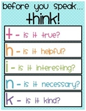 """Before you speak... THINK"" Printable"