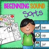 Beginning Sound Sort Pack for Prek and Kinder