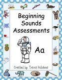 Beginning Sounds Assessments - Kindergarten