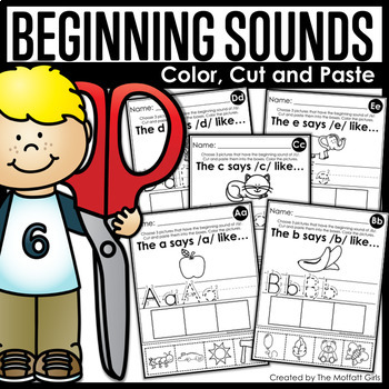 Beginning Sounds (Color, Cut and Paste!)