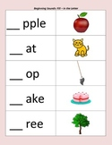 Beginning Sounds Worksheet Set