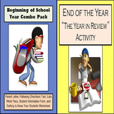 Beginning of School Year & End of the Year Activity Combo