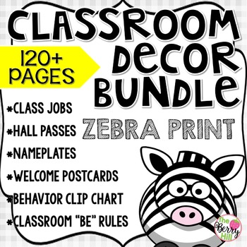 Beginning of the Year (BoY) Big Bundle - Zebra Print