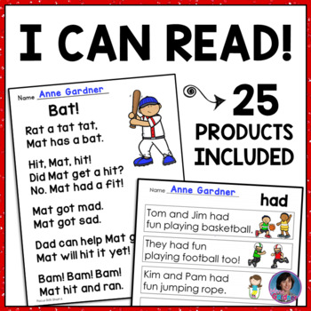 * Very First Sight Word Sentences, Alphabet Sentences & Reading Comp. Games