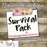 Beginning of the Year: New Teacher Pack for Kindergarten