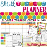 Editable Teacher Binder & Organization Packet (Polka Dots)