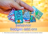 Behavior Badges/ Work Hard, Be a Buddy, Super Speller