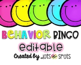 Behavior Bingo {Editable!}