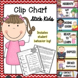 "Behavior Clip Chart - ""Stick Kid""-themed"