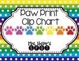 Behavior Clip Charts {Paw Prints}