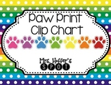 Behavior Clip Charts {Paw Prints}