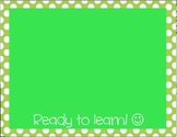 Behavior Color Chart - Polka Dots - Green