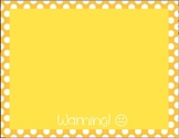 Behavior Color Chart - Polka Dots - Yellow