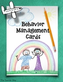 Behavior Management Cards