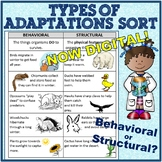 Behavioral and Structural (Physical) Adaptations Cut and P