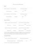 Bibliography/Works Cited Template