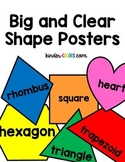 Big and Clear Shape Posters