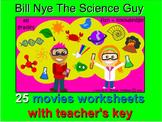 Bill Nye Science Guy - 25 Video Worksheets & Key Bundle. M