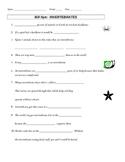 Bill Nye Invertebrates Video Guide Sheet