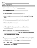 Bill Nye Planet Video Worksheet