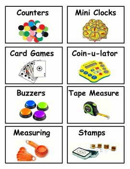 Bin Labels for the Classroom
