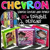 Chevron Binder Covers {Melonheadz Edition}