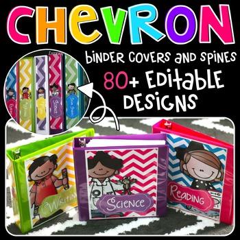 Chevron Binder Covers {Melonheadz Edition}