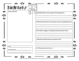 Biography Graphic Organizer