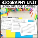 Biography Report: Informative Reading & Writing Unit {Comm