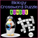 Biology Crossword Puzzles - Set of 9