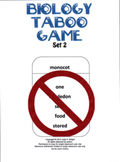 Biology Taboo Game Set 2