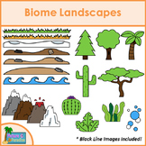 Biome Landscapes Clip Art