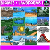 Biomes And Landforms Clip Art Bundle