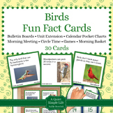 Birds Fact Cards - Fun Unit Extension Activity, Bulletin B