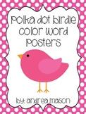 Bird Theme Polka Dot Color Posters