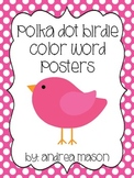 Bird Theme Polka Dot Color Posters