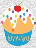 Birthday Bulletin Board Cupcakes
