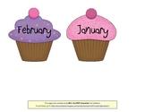 Birthday Cupcakes (for bulletin board)