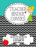 Black Chevron and Turquoise {50 Teacher Binder Covers!}