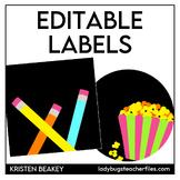 Editable Labels—Schedule Cards (Consistent Colors Black)