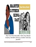 Black History Month Literacy 2 part bundle pack