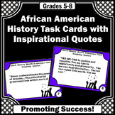 Black History Month Quote Task Cards Social Studies Histor