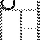 Black and White Chevron Newsletter Template