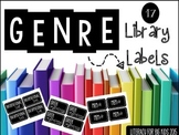 Black and White Genre Library Labels