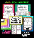 Loopty Loo Doodly Doo Clip Art Borders Bundle Commercial Use