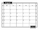 Blank 2014-2015 School Calendar